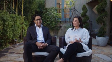YTLovato with Dr. Shouri Lahiri, the physician who saved her brain functioning [Credit: OBB Media] copy