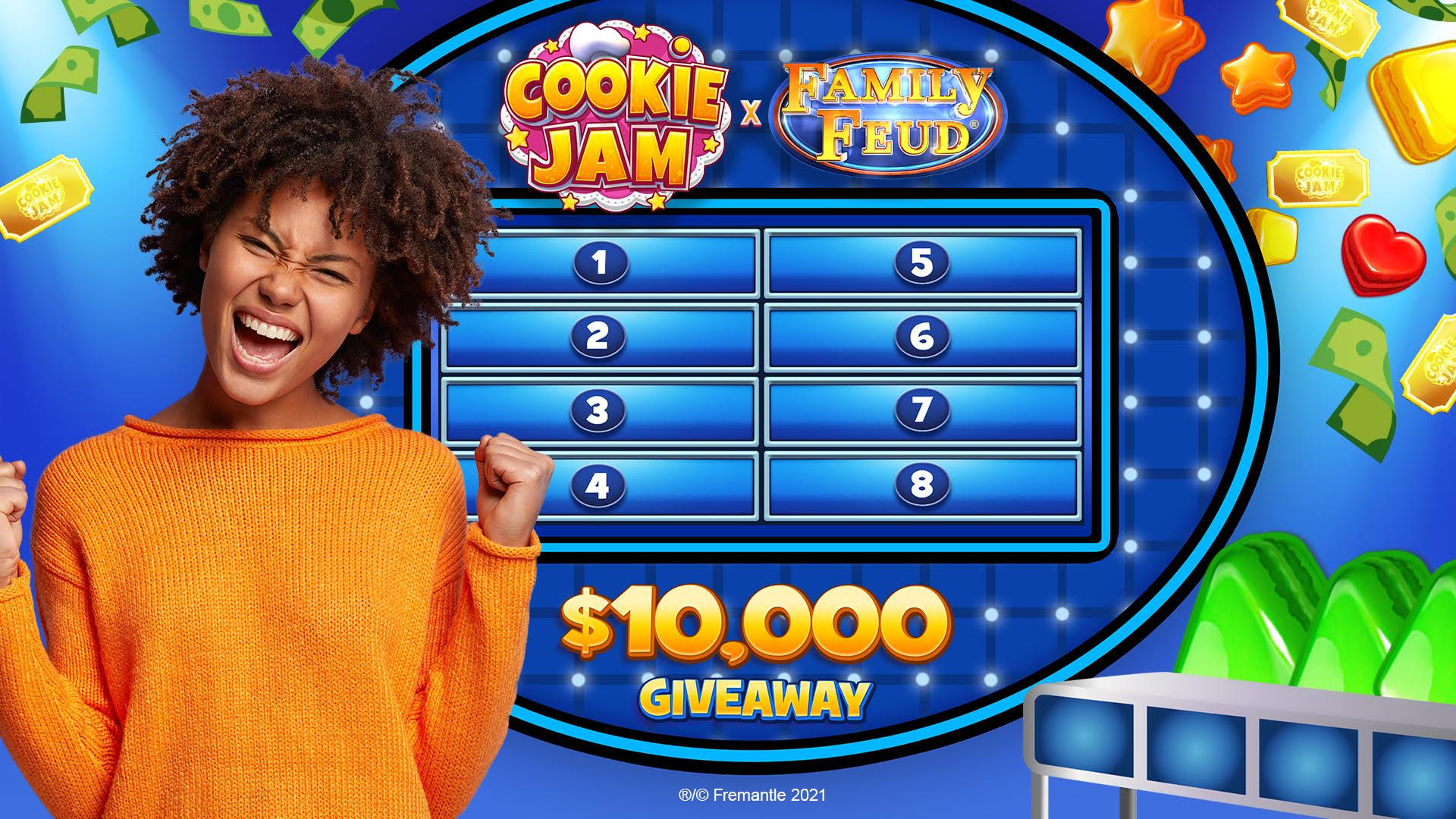 JAM & CITY & AND FREMANTLE PARTNER TO BRING FAMILY FEUD™ TO COOKIE JAM
